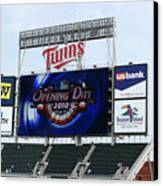 Twins Home Opener 2010 Canvas Print by Ron Read