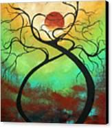 Twisting Love II Original Painting By Madart Canvas Print by Megan Duncanson