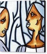 Two Ladies Canvas Print by Thomas Valentine