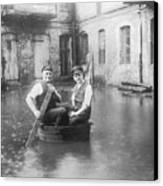 Two Men In A Tub Canvas Print by Fpg