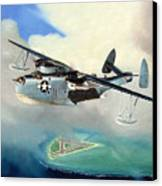 Uncle Bubba's Flying Boat Canvas Print by Marc Stewart