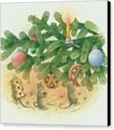 Under The  Christmas Tree Canvas Print by Kestutis Kasparavicius