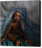 Under The Mosquito Net Canvas Print by Irene Abdou