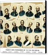 Union Commanders Of The Civil War Canvas Print by War Is Hell Store