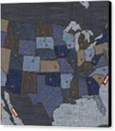 United States Of Denim Canvas Print by Michael Tompsett