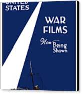 United States War Films Now Being Shown Canvas Print by War Is Hell Store