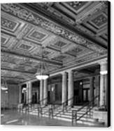 University Of Michigan Angell Hall Canvas Print by University Icons
