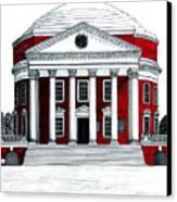 University Of Virginia Canvas Print by Frederic Kohli