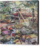 Unseated On Trout Brook Canvas Print by Alicia Drakiotes