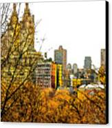 Urban Autumn In Nyc Canvas Print by Linda  Parker