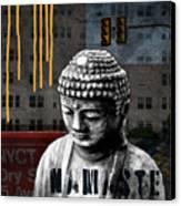Urban Buddha  Canvas Print by Linda Woods
