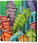 Urban Vertigo Canvas Print by Eva Folks