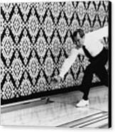 U.s. President Richard Nixon, Bowling Canvas Print by Everett
