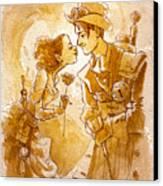 Valentine Canvas Print by Brian Kesinger
