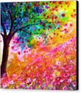 Valentine Tree Canvas Print by Ann Marie Bone