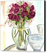 Valentines Crystal Rose Canvas Print by Clara Sue Beym