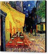 Van Gogh Cafe Terrace Place Du Forum At Night Canvas Print by Vincent Van Gogh