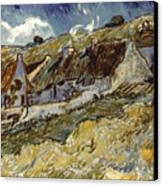 Van Gogh: Cottages, 1890 Canvas Print by Granger