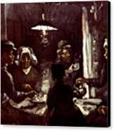 Van Gogh: Meal, 1885 Canvas Print by Granger