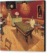 Van Gogh Night Cafe 1888 Canvas Print by Granger