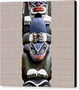 Vancouver Totem - 2 Canvas Print by Linda  Parker