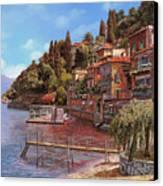 Varenna On Lake Como Canvas Print by Guido Borelli