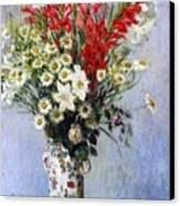 Vase Of Flowers Canvas Print by Claude Monet