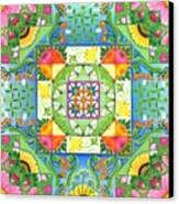 Vegetable Patchwork Canvas Print by Isobel  Brook Haslam