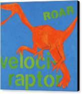 Velociraptor Canvas Print by Laurie Breen