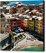 Venazza Cinque Terre Italy Canvas Print by Xavier Cardell