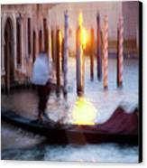 Venice Blue Hour 1 Canvas Print by Heiko Koehrer-Wagner