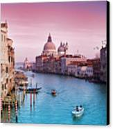 Venice Canale Grande Italy Canvas Print by Dominic Kamp Photography