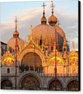 Venice Church Of St. Marks At Sunset Canvas Print by Heiko Koehrer-Wagner