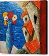 Ventana Al Mar Canvas Print by Oscar Ortiz