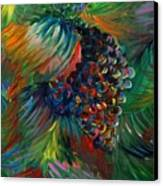 Vibrant Grapes Canvas Print by Nadine Rippelmeyer
