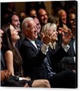 Vice President Joe Biden Flanked Canvas Print by Everett
