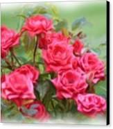 Victorian Rose Garden - Digital Painting Canvas Print by Carol Groenen