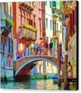 View From The Canal Canvas Print by Jeff Kolker