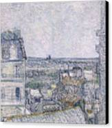 View From Vincent's Room In The Rue Lepic Canvas Print by Vincent van Gogh