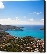 View Of Charlotte Amalie St Thomas Us Virgin Islands Canvas Print by George Oze