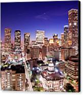 View Of Cityscape Canvas Print by jld3 Photography