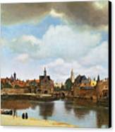 View Of Delft Canvas Print by Jan Vermeer