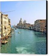 View Of Grand Canal In Venice From Accadamia Bridge Canvas Print by Michael Henderson