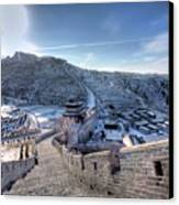 View Of Great Wall Canvas Print by Photograph by Sunny Ip.