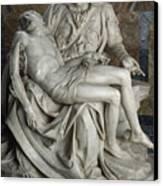 View Of Michelangelos Famous Sculpture Canvas Print by James L. Stanfield