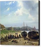 View Of The Dutch Coast Canvas Print by Johan Gerard Smits