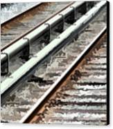 View Of The Railway Track  Canvas Print by Lanjee Chee