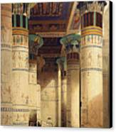 View Under The Grand Portico Canvas Print by David Roberts