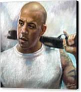 Vin Diesel Canvas Print by Ylli Haruni