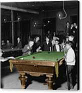 Vintage Pool Hall Canvas Print by Andrew Fare